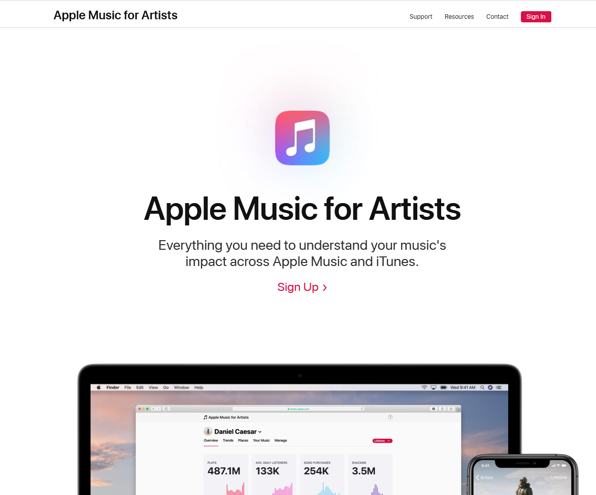 how to create apple music artist page